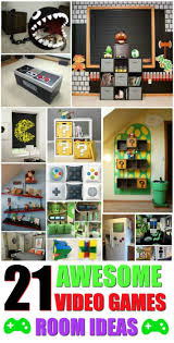 21 Truly Awesome Video Game Room Ideas U Me And The Kids Video Game Rooms Video Game Room Video Game Decor