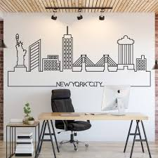 New York Skyline Wall Decal Kuarki Lifestyle Solutions