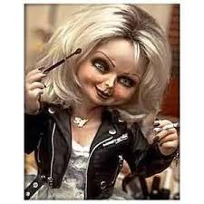 tip bride of chucky makeup by