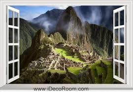 3d South America Peru The Ancient City Of Machu Picchu Window Wall Sticker Art Decal Idcch Ls 001609 Sticker Wall Art Window Wall Ancient Cities