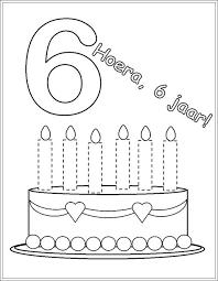 Kleurplaat Verjaardag Fotolijst 6 Met Afbeeldingen Verjaardag