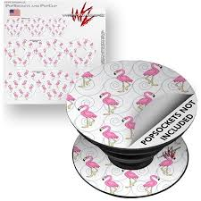 Decal Style Vinyl Skin Wrap 3 Pack For Popsockets Flamingos On White Popsocket Not Included By Wraptorskinz Walmart Com Popsockets Vinyl Colorful Prints