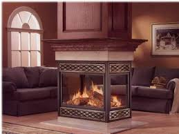 see through center of room fireplaces