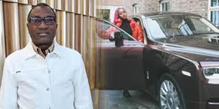 Femi Otedola Reacts To DJ Cuppy's Rolls Royce Phantom