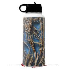 Skin Wrap Decal Compatible With Hydro Flask Wide Mouth Bottle 32oz Wraptorcamo Grassy Marsh Camo Neon Blue Bottle Not Included Walmart Com Walmart Com