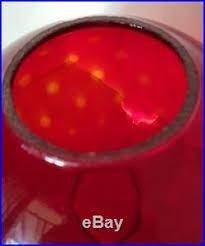 ruby red glass ball globe lamp shade