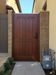 Custom Wood Gate By Garden Passages Straight Top Side Gate Wood Gate Backyard Gates Wooden Fence Gate
