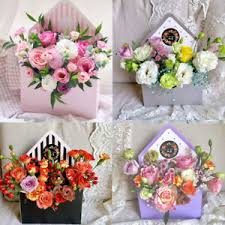 1 Pair New Fashion Envelope Box Flower Packaging Floral Bouquet ...