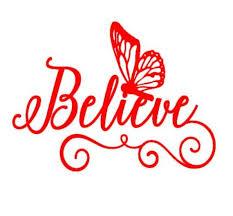 Believe Butterfly Decal Believe Butterfly Sticker Laptop Etsy