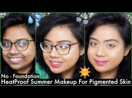 everyday sweat proof summer makeup for