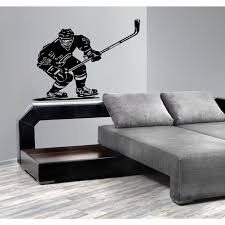 Shop Ice Hockey Player With A Stick Wall Art Sticker Decal Overstock 11719528