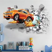 1pc Creative Football 3d Wall Stickers Basketball Broken Wall Art Decal Car Wall Poster Kids Room Decoration Boys Favors Football Free Shipping Dealextreme