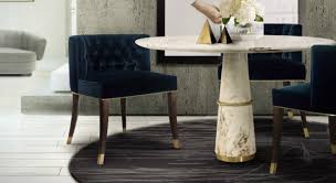 rug with a round dining table