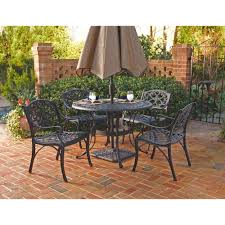black 5 piece patio dining set 5554 328