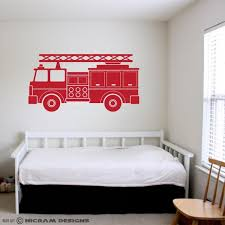 Fire Truck Engine Wall Art Kids Room Vinyl Firefighter Sticker Etsy