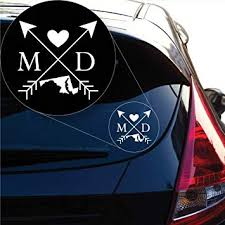 Amazon Com Yoonek Graphics Maryland Love Cross Arrow State Md Decal Sticker For Car Window Laptop And More 1085 4 X 4 White Automotive