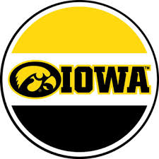 Iowa Hawkeyes Tigerhawk Circle Vinyl Decal