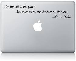 Amazon Com Oscar Wilde Quote Laptop Apple Macbook Vinyl Decal Sticker Apple Mac Air Pro Laptop Sticker Kitchen Dining