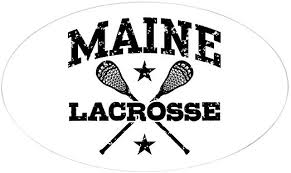 Amazon Com Cafepress Maine Lacrosse Oval Bumper Sticker Euro Oval Car Decal Home Kitchen