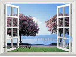 Cherry Blossom Tree 3d Window View Removable Wall Decals Stickers Art Idecoroom