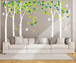 Amazon Com Anber Giant Jungle Tree Wall Decal Removable Vinyl Sticker Mural Art Bedroom Nursery Baby Kids Rooms Wall Decor Home Kitchen