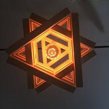 splendid star shaped pendant light