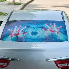 Halloween 3d Car Back Rear Window Decal Vinyl Sticker Horror Monsters Zombie Ebay