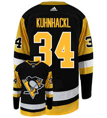 Tom Kuhnhackl Pittsburgh Penguins Adidas Authentic Home NHL Hockey Jersey