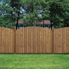 Barrette 6 Ft H X 8 Ft W Spruce Pine Fir Half Moon Fence Panel Lowes Com Wood Fence Design Wood Fence Fence Design