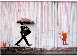 colorful rain wall art painting