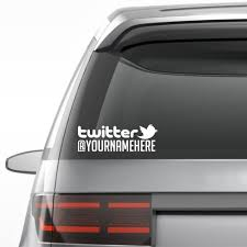Twitter Personalized Vinyl Decal Sticker