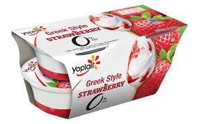 yoplait 0 greek style strawberry 4 x 120g