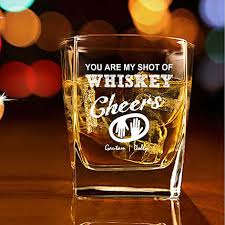 personalised set of 2 whiskey glasses