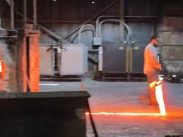 molten glass for color and consistency