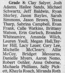 Ryan Shirley 8th grade Cardington-Lincoln Middle School - Newspapers.com
