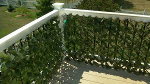 Compass Home Set Of 2 Expandable Faux Ivy Privacy Fences Qvc Com Compass Homes Privacy Fences Small Balcony Design