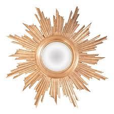 antique french giltwood convex sunburst