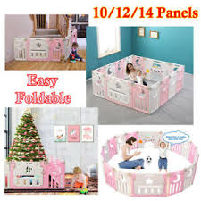 Baby Playpens Foldable Panel Kids Fence Safety Plastic Child Indoor Outdoor Toys Ebay