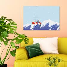 Shop Oliver Gal Ski Lift Sports And Teams Wall Art Canvas Print Blue Red Overstock 28701208