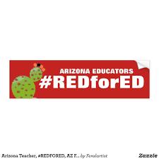 Arizona Teacher Redfored Az Flag Bumper Sticker Bumper Stickers Car Bumper Stickers Custom Car Stickers