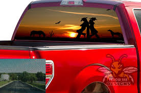 Wild West Rear Window Decals Perforated Stickers Ford F150