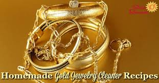 homemade gold jewelry cleaner recipes
