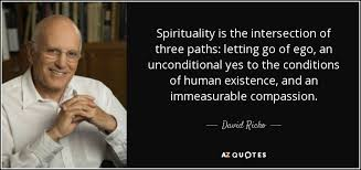 david richo quote spirituality is the intersection of three paths