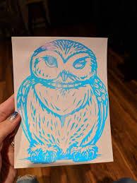 Harry Potter Inspired Winking Hedwig Owl Vinyl Decal For Car Home Yeti Ftw Custom Vinyl