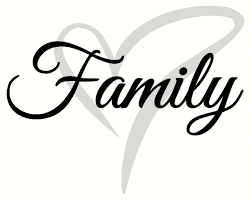 Cursive Family Wall Decal Lettering With Heart 2 Color Vinyl Stickers To Overlay Family Wall Decals Wall Decal Sticker Family Wall