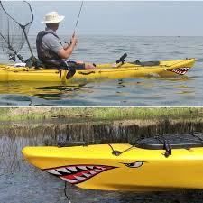 2pcs Car Fishing Stickers Shark Mouth Sticker Teeth Boat Decals Canoe Side Door Ebay
