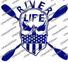 River Life Kayaking Yak Life Paddling Skull Bandana Custom Decals Vinyl Decal Ebay