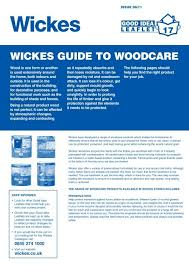 Wickes Guide To Woodcare