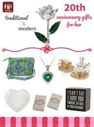 best 20th anniversary gift ideas for her
