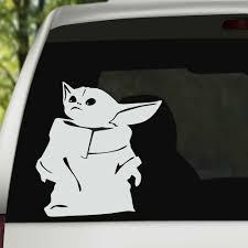 Baby Yoda Sticker Fast Free Shipping Vinyl Status